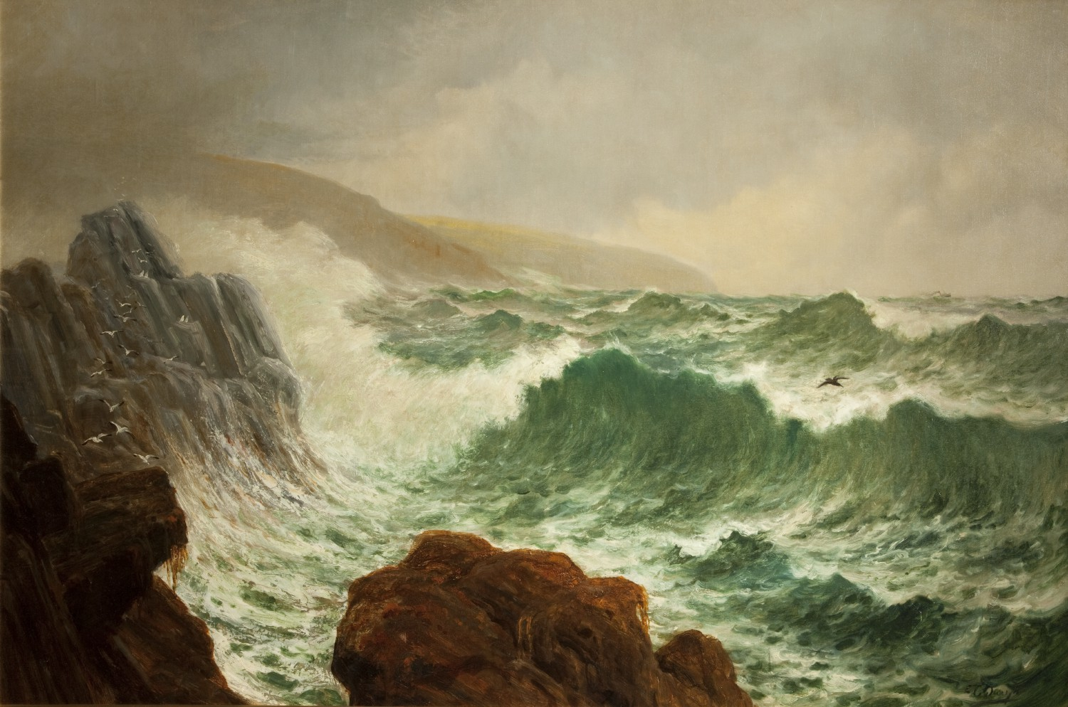 Clay Head Seascape by Edward Christian Quayle ©Manx National Heritage (1954-5951)