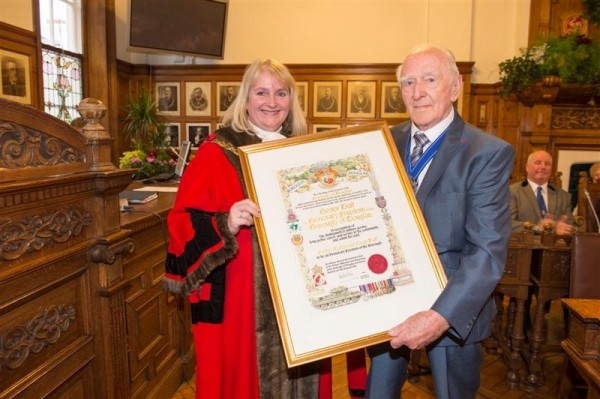 Council confers Honorary Freedom of the Borough on Hector Duff