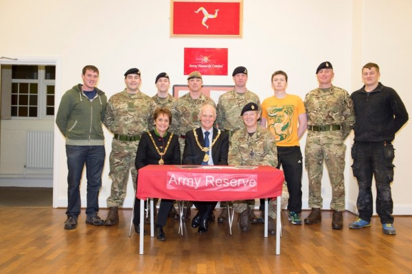 Signing of the Isle of Man Armed Forces Community Covenant
