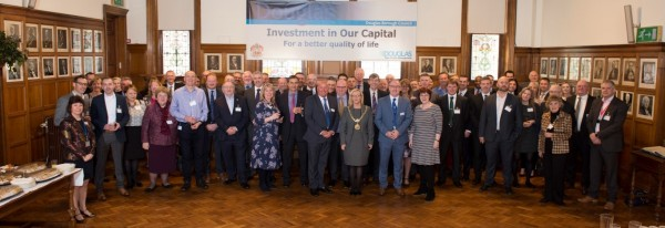 Business lunch sees Mayor call for 'shared endeavour' to optimise capital's quality of life