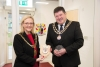 Mayor exchanges shields with chairman of Onchan District Commissioners
