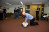 Defibrillator training with St John Ambulance