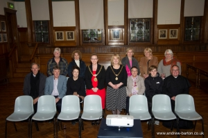 Father Tom Davis and members of St Matthew's Church welcomed to the town hall