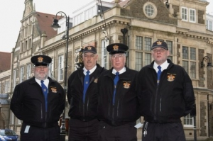 Borough warden team members Neil Cringle, Erle Cornelius, Alan Jones and Michael Cowin