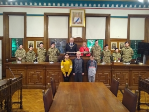 IoM Army Cadet Force welcomed to the Town Hall