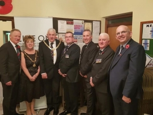 Mayor attends Ballymoney Royal British Legion Armistice celebrations