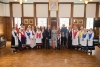 Folk dancers welcomed to Town Hall