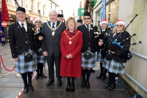 Music and massed voices make for Merry Christmas in Strand Street