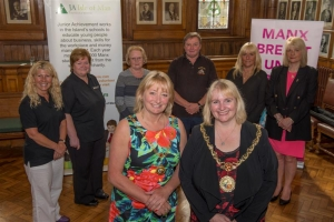 The Mayor of Douglas, Councillor Sara Hackman, right, and the Mayoress, Councillor Carol Malarkey, at the launch of the 2015-2016 mayoral charity appeal