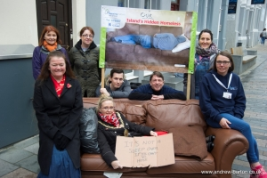 Mayor helps to highlight plight of island's hidden homeless
