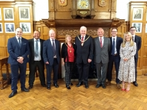 Barclays' representatives welcomed to the Town Hall