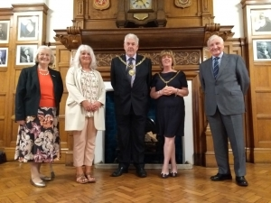 Military veteran welcomed to the Town Hall