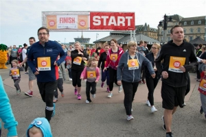 300 step out for Sport Relief Mile