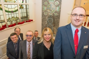 Children's mosaic has pride of place in town hall