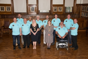 Veterans' support charity members meet the Mayor