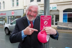 In the pink: Council installs chewing gum bins