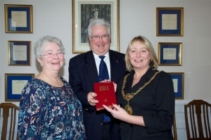 Gideon Bible presented to Her Worship the Mayor